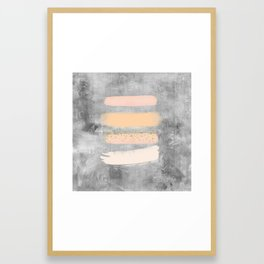 Pastel Stripes on Concrete Framed Art Print