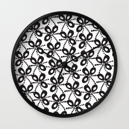 Quirky Black & White Wall Clock