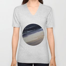 Marble in Blue and Ivories Unisex V-Neck