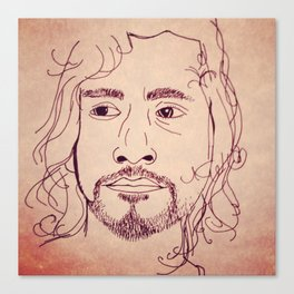 Sayid from Lost Canvas Print