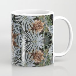 Spruce Cones And Needles Kaleidoscope K4 Coffee Mug
