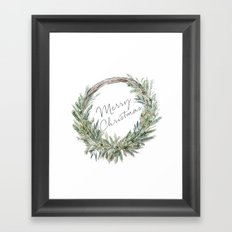 Christmas Wreath Framed Art Print
