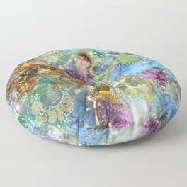 Mermaids Treasure Floor Pillow