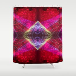 Lunar Psychedelics - Light Diamond Shower Curtain