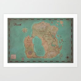Map of Dereth //Asheron's Call Art Print