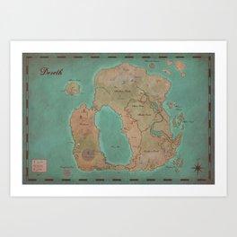 Map of Dereth //Asheron's Call Art Print