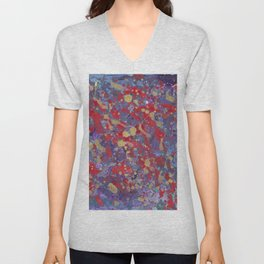 Abstraction pattern Unisex V-Neck