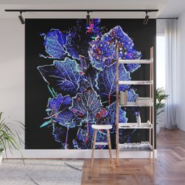Rime Leaves Abstract Wall Mural