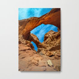 Double arch at Arches National Park Utah USA Metal Print