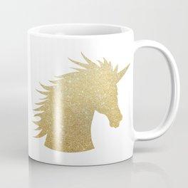 Gold Glitter Unicorn Coffee Mug