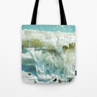 wave Tote Bags featuring Wave by Bella Blue Photography