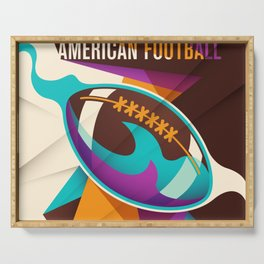 American Football Sport Ball Abstract Serving Tray
