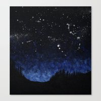 night sky Canvas Prints featuring Night sky by AhaC