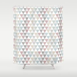 Geometric Pattern Wanderlust Pastel Shower Curtain