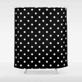 Black White Polka Dots Shower Curtain