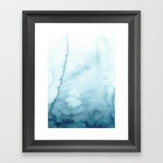 indigo shibori 07 Framed Art Print