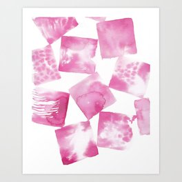Pink Squared Art Print