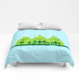 Monday Mountains Comforters