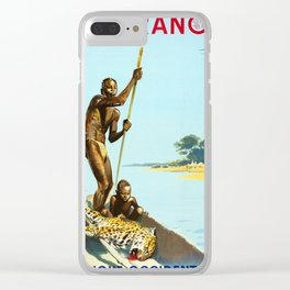 Afrique Occidentale  - 1950s Vintage Travel Poster Clear iPhone Case