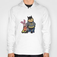 pooh Hoodies featuring Bat Pooh by thedoormouse