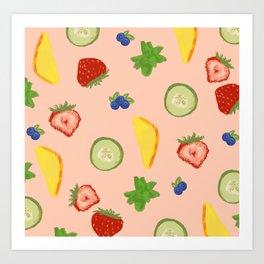 Fruit splash Art Print