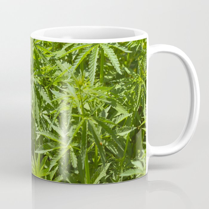 a7b40c2fc36 Cannabis Texture Marijuana Leaf Coffee Mug by belovodchenko