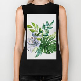 Flower and Leaves Biker Tank