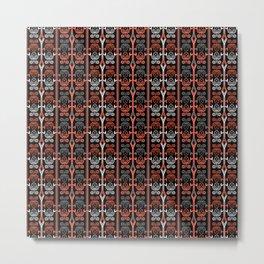 Coral , black , ornament , horoscope Metal Print
