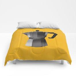 Classic Bialetti Coffee Maker Yellow Comforters