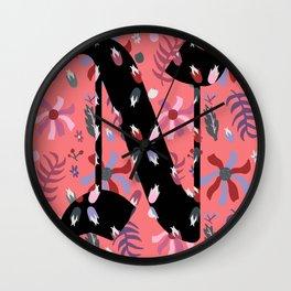 Illuminated Letter N Wall Clock
