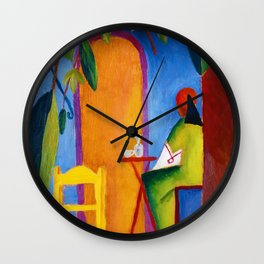 August Macke - Turkish Cafe - Digital Remastered Edition Wall Clock