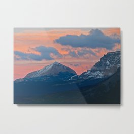 Glacier National Park Sunset Metal Print