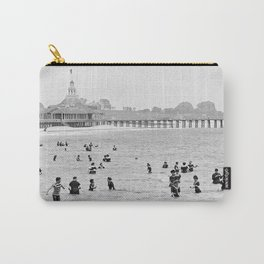 1895 Narragansett Pier and Beach, Narragansett, Rhode Island Carry-All Pouch