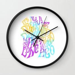Box Of Rain (Colour) Wall Clock