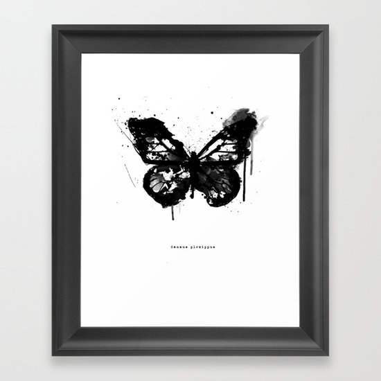Black Monarch Framed Art Print