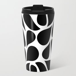 Small Abstract Black & White Foliage Pattern - Mix and Match with Simplicity of Life Travel Mug