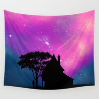 alone Wall Tapestries featuring Alone by Fathi