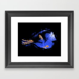 Blue Tang Reef Framed Art Print