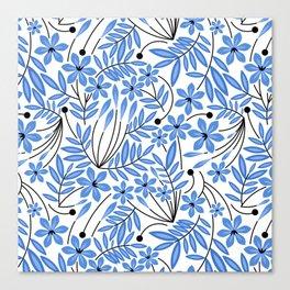 Spring Blues - Daffodils Canvas Print