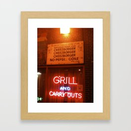 Billy Goat Framed Art Print