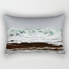 Green Wave Breaking Rectangular Pillow