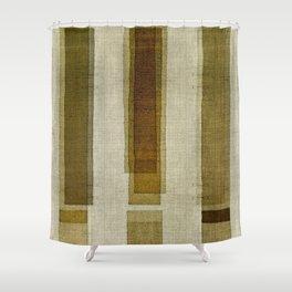 Burlap Texture Greenery Columns Shower Curtain