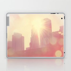 City of Lights. downtown Los Angeles skyline photograph Laptop & iPad Skin