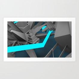 Prototype Teal  Art Print