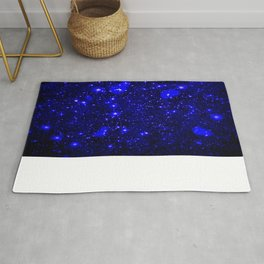 Dark Matter Galaxy Blue Rug