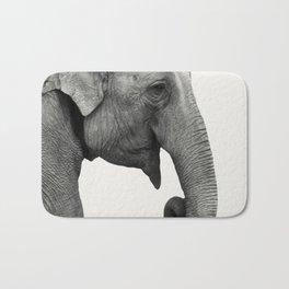 Elephant Animal Photography Bath Mat