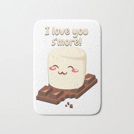 I Love You Smore Camping Tshirt Gifts Bath Mat