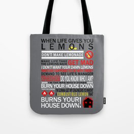 Combustible Lemons Tote Bag