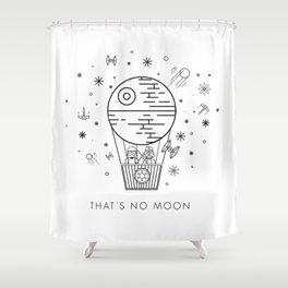That's No Moon Death Star Hot Air Balloon Storm Tr Shower Curtain