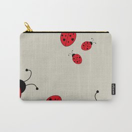 Ladybugs-Beige+Red Carry-All Pouch